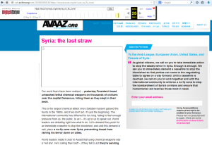 AvaazSyriaScreenshot